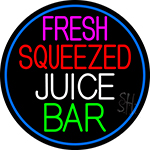 Fresh Squeezed Juice Bar LED Neon Sign
