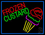 Frozen Custard With Logo LED Neon Sign