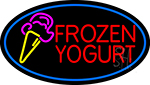 Frozen Yogurt With Logo LED Neon Sign
