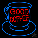 Good Coffee Inside Cup LED Neon Sign