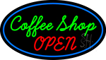 Green Coffee Shop Open LED Neon Sign