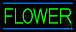 Green Flowers LED Neon Sign
