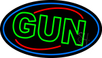 Green Gun LED Neon Sign