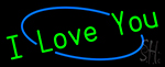 Green I Love You LED Neon Sign