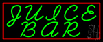 Green Juice Bar Neon Sign