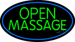 Green Open Massage LED Neon Sign