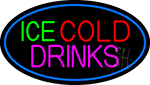 Green Red Ice Cold Drinks LED Neon Sign