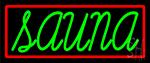 Green Sauna Neon Sign