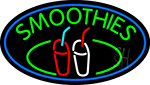 Green Smoothies With Glass LED Neon Sign