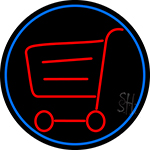 Grocery Trolley Logo LED Neon Sign