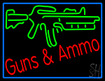 Gun Ammo LED Neon Sign