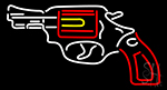 Gun Logo LED Neon Sign