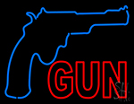 Gun With Logo LED Neon Sign