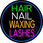 Hair Nail Waxing Lashes LED Neon Sign