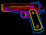Hand Gun LED Neon Sign