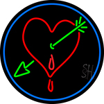 Heart Arrow I Love You LED Neon Sign