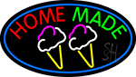 Home Made Ice Cream Cone LED Neon Sign