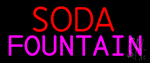 Horizontal Double Stroke Soda Fountain Neon Sign