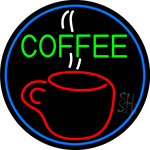 Hot Coffee Glass LED Neon Sign