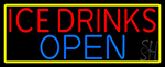 Ice Cold Drinks Open LED Neon Sign