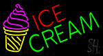Ice Cream Cone Image LED Neon Sign