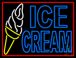 Ice Cream Cone In Between LED Neon Sign