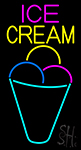 Ice Cream Multicolored Cone LED Neon Sign