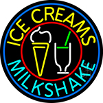 Ice Creams N Milkshakes LED Neon Sign