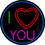 I Love You LED Neon Sign