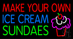 Make Your Own Ice Cream Sundaes LED Neon Sign