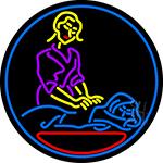 Massage Logo Open LED Neon Sign