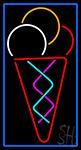 Multicolored Ice Cream Cone LED Neon Sign