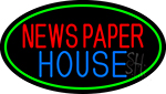 Newspaper House LED Neon Sign