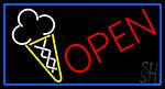 Open Ice Cream Open LED Neon Sign