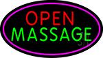 Open Massage LED Neon Sign