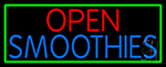 Open Smoothies LED Neon Sign