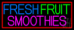 Oval Fresh Fruit Smoothies LED Neon Sign