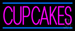 Pink Cupcakes Neon Sign