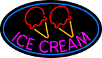 Pink Ice Cream Cone LED Neon Sign