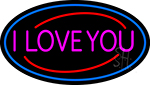 Pink I Love You LED Neon Sign