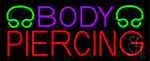 Purple Body Piercing Neon Sign
