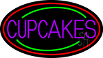 Purple Cupcakes With Cupcake In Between LED Neon Sign