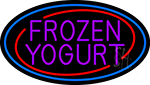 Purple Frozen Yogurt LED Neon Sign