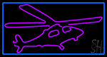 Purple Helicopter LED Neon Sign