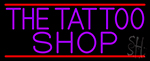 Purple The Tattoo Shop Neon Sign