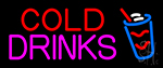 Rectangle Cold Drinks Neon Sign