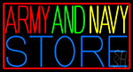 Red Army And Navy Store LED Neon Sign