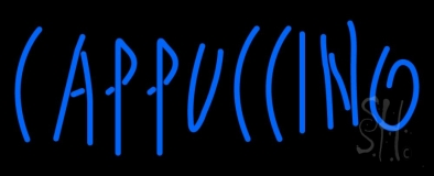 Blue Cappuccino LED Neon Sign
