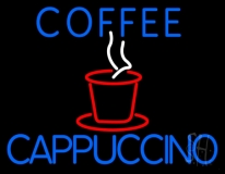 Blue Coffee Cappuccino LED Neon Sign