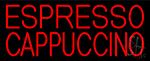 Red Cappuccino And Espresso LED Neon Sign